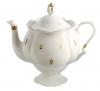 "Lomonosov Imperial Porcelain Bone China Teapot ""Eyelets"""