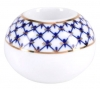 Lomonosov Porcelain Round Candle Holder Cobalt Net