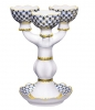 Decorative Candle Holder Cobalt Net for 3 Lomonosov Imperial Porcelain
