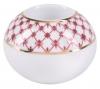 Lomonosov Porcelain Round Candle Holder Red Net