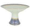 "Lomonosov Imperial Porcelain Candy Fruit Vase Youth Cobalt Net 11.3"" D"