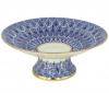 "Lomonosov Imprerial Porcelain Candy Vase Forget me Not 7.6"" D"