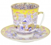 Lomonosov Imperial Porcelain Cup and Saucer Bone China May Frosty Evening 5.6 fl.oz/165 ml