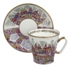 Lomonosov Imperial Porcelain Cup and Saucer Bone China Palaces 2.71 fl.oz/80 ml