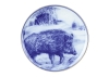 Decorative Wall Plate 2019 Year of PIG Wild Boar (3) 7.7 inches 195 mm