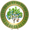 "Decorative Wall Plate Blueberries 10.4"" Lomonosov Imperial Porcelain"