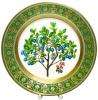 "Decorative Wall Plate Blueberries 10.4"" Lomonosov Imperial Porcelain"