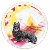 "Decorative Wall Plate 2018 Year of Dog with Bonefire 7.7""/195 mm Lomonosov Porcelain"
