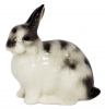 Easter Bunny Rabbit Lomonosov Imperial Porcelain Figurine