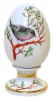 Easter Egg on Stand Chiffchaff Bird Lomonosov Imperial Porcelain