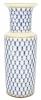 Flower Vase Cylinder Style Cobalt Net Lomonosov Imperial Porcelain