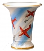 Flower Vase Empire Style Airplanes Lomonosov Imperial Porcelain