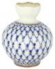 Flower Vase Tulip Cobalt Net Lomonosov Imperial Porcelain