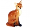 Fox Sitting Lomonosov Imperial Porcelain Figurine