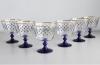 Imperial Porcelain Factory Glass Ice Cream Vase Cobalt Net 6 items