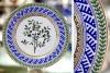 "Lomonosov Porcelain Decorative Wall Plate Blueberry 10.6""/270 mm"