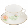 omonosov Bone China Cup and Saucer Spring-2 Tender Peony Green 8.45 fl.oz 250 ml