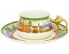 Lomonosov Imperial Porcelain Bone China Cup and Saucer Bilibina Village at the Lake 6.1 fl.oz/180ml