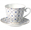 Lomonosov Imperial Porcelain Bone China Cup and Saucer Carnation Retro