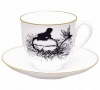 Lomonosov Imperial Porcelain Bone China Cup and Saucer Dragonfly