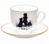 Lomonosov Imperial Porcelain Bone China Cup and Saucer Friends
