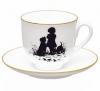 Lomonosov Imperial Porcelain Bone China Cup and Saucer Friends