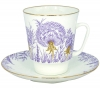 Lomonosov Imperial Porcelain Bone China Cup and Saucer May Dandelion
