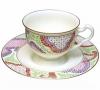 Lomonosov Imperial Porcelain Bone China Cup and Saucer Pink Marietal