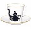 Lomonosov Imperial Porcelain Bone China Espresso Cup and Saucer Together