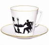 Lomonosov Imperial Porcelain Bone China Espresso Cup and Saucer Visitor