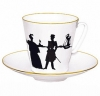 Lomonosov Imperial Porcelain Bone China Espresso Cup and Saucer Walk