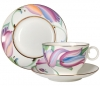 Lomonosov Imperial Porcelain Bone China Tea Cup Set 3 pc Apple Lia 5.4 oz