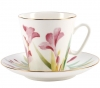 Lomonosov Imperial Porcelain Bone China Espresso Cup and Saucer Aquarelle 2.7 oz/80ml