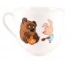 Lomonosov Imperial Porcelain Cup and Saucer Winnie the Pooh Honey