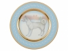 Lomonosov Porcelain Decorative Wall Plate Husky Dog
