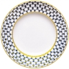 "Lomonosov Porcelain Dessert Plate Cobalt Net Cake Smooth 7""/180 mm"
