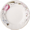 "Lomonosov Imperial Porcelain Dessert Plate Pink Tulips 7""/180 mm"