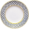 "Lomonosov Imperial Porcelain Dinner Plate Cobalt Net European Flat 8.7""/220 mm"