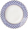 "Lomonosov Imperial Porcelain Dinner Plate Cobalt Net European-2 Flat 7.9""/200 mm"