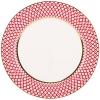 """Lomonosov Imperial Porcelain Dinner Plate Scarlet v.2 10.6""""/270 mm"""