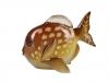 Lomonosov Porcelain Figurine Freshwater Butterflyfish Fish Yellow Spot