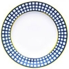 "Lomonosov Imperial Porcelain Flat Dinner Plate Cobalt Cell 10.6 ""/270 mm"