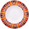 "Lomonosov Imperial Porcelain Soup Plate Flame Flower 9.3""/235 mm"