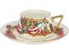 Lomonosov Imperial Porcelain Tea Cup Set 2 pc Bilibina Magic Birds 6 oz/180 ml