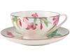 Lomonosov Imperial Porcelain Tea Set Cup and Saucer Dome Aquarelle 10 oz/300 ml