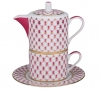 Lomonosov Porcelain Gift Set Solo Teapot and Tea Cup Red Net