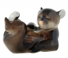 Lying Brown Bear Baby Lomonosov Imperial Porcelain Figurine