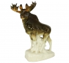 Moose Walking Lomonosov Imperial Porcelain Figurine