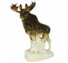Moose Walking Lomonosov Imperial Porcelain Figurine