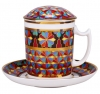 Lomonosov Imperial Porcelain Covered Tea Mug and Saucer Gothic-1